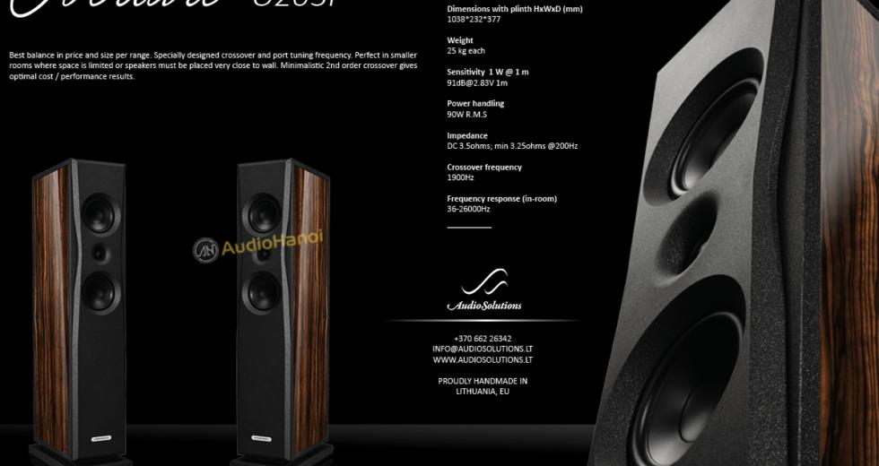 Loa AudioSolutions Overture O203F giải pháp cho hệ thống âm thanh đỉnh cao