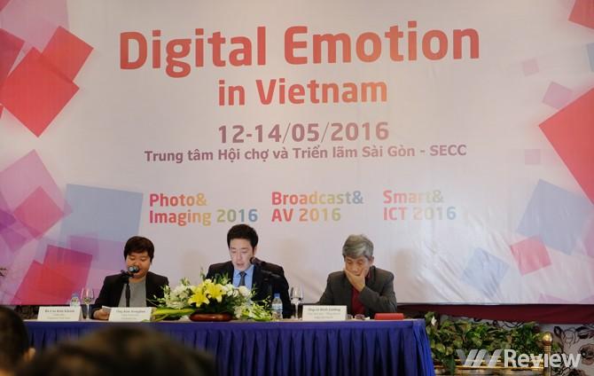Ban tổ chức họp báo triển lãm Digital Emotion 2016