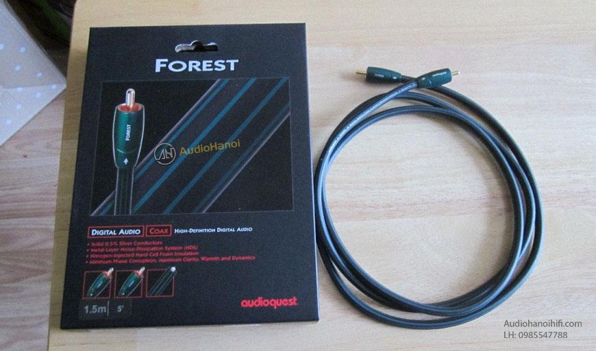 Day tin hieu Coaxial AudioQuest Forest va hop