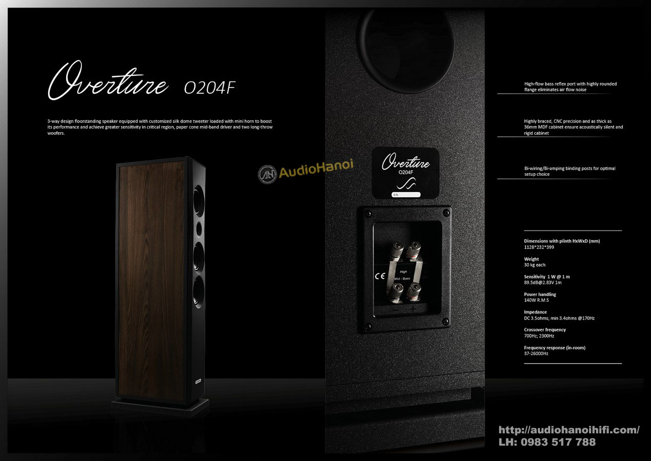 loa AudioSolutions Overture O204F chat