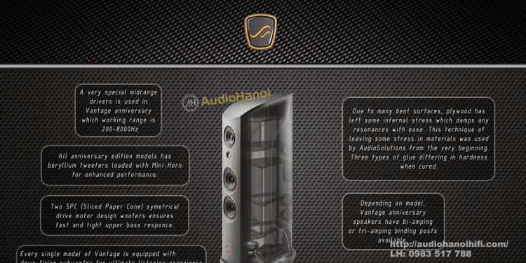cau tao loa Audio Solutions Vantage S Anniversary