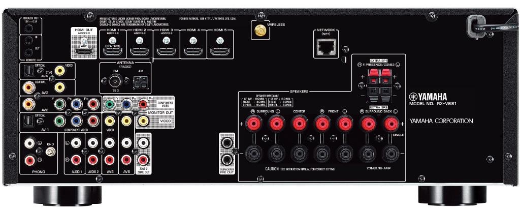 ampli Yamaha RX-V681 mat sau