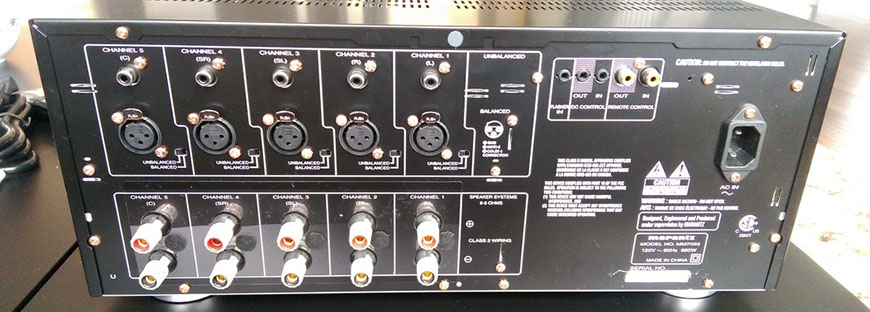 Power ampli Marantz MM7055 mat sau